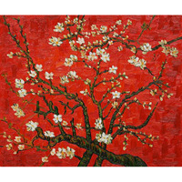 Hand Painted Vincent Van Gogh Branches Of An Almond Tree In Blossom For Living Room