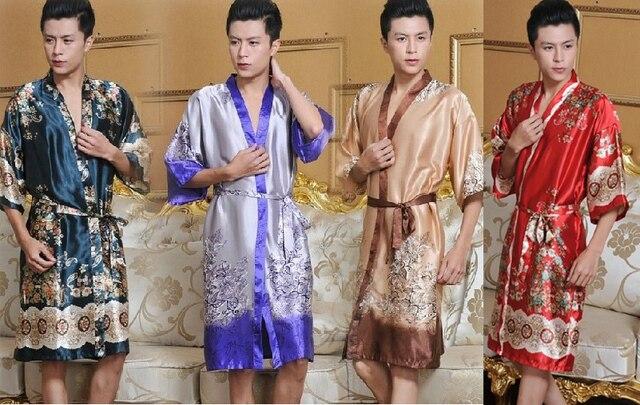 Arrival big New Silk Discount Men's 2014 Free Robe Shipping Kaftan qXw1wI
