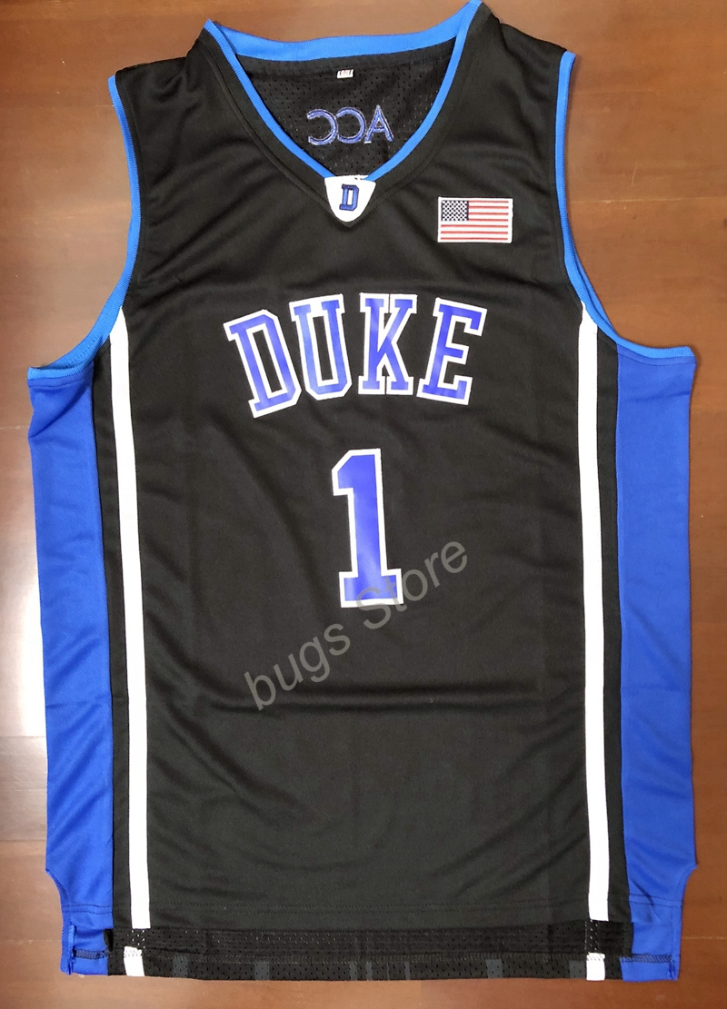 ... new arrivals ej kyrie irving 1 duke blue devils stitched basketball  jersey black in basketball jerseys 1a0d77d9d