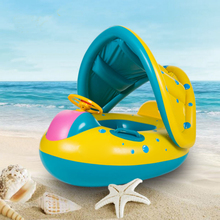Inflatable Sunshade Baby Child Kid Float Seat Boat Swimming Ring Raft Tube Laps Water Pool Sports Game