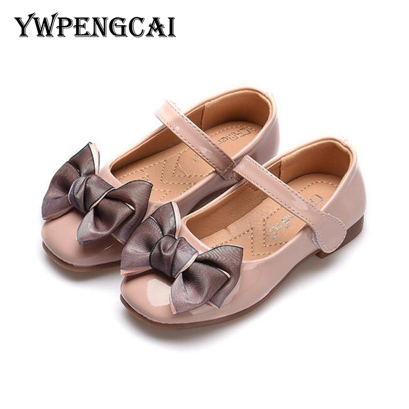 Spring Autumn Sweet Cute Bowtie Girls Shoes Soft PU Leather Ballet Shoes  Size 21-36 3bf22cae7bc6