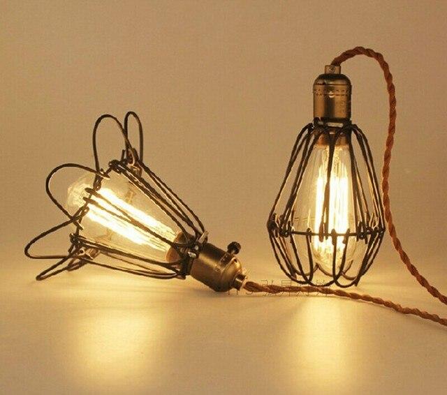 Koop art deco vintage industri le antieke metalen kooi hanglamp fabriek draad - Deco fabriek ...