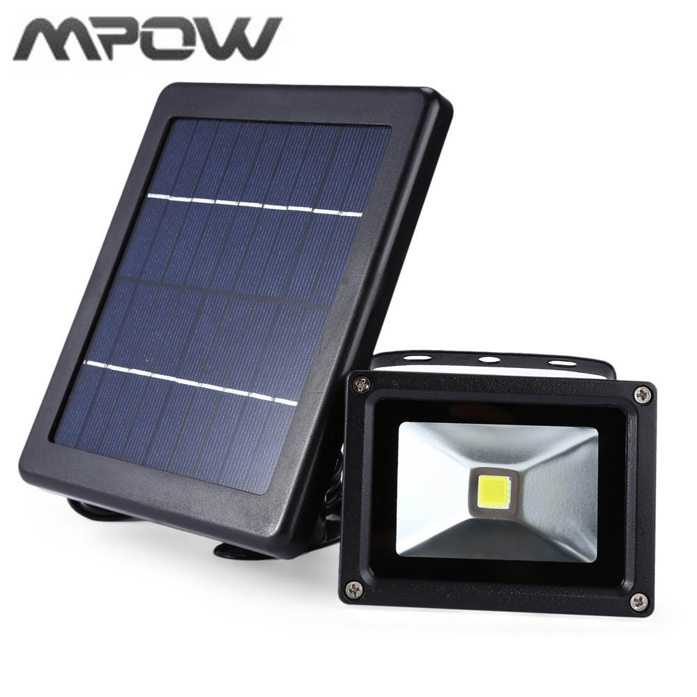mpow 3w outdoor led solar wall light water proof. Black Bedroom Furniture Sets. Home Design Ideas
