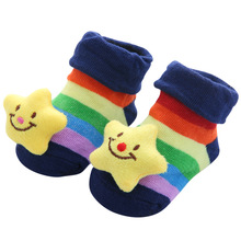 YOOAP Baby socks Pure cotton  rubber anti slip floor cartoon kids Toddlers autumn spring Fashion Animal newborn Cute