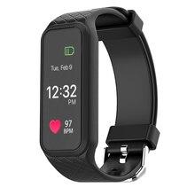 Bluetooth Smart Band динамический монитор сердечного ритма браслет Цвет-полный TFT-LCD Экран шагомер браслет для IOS Android Мобильный