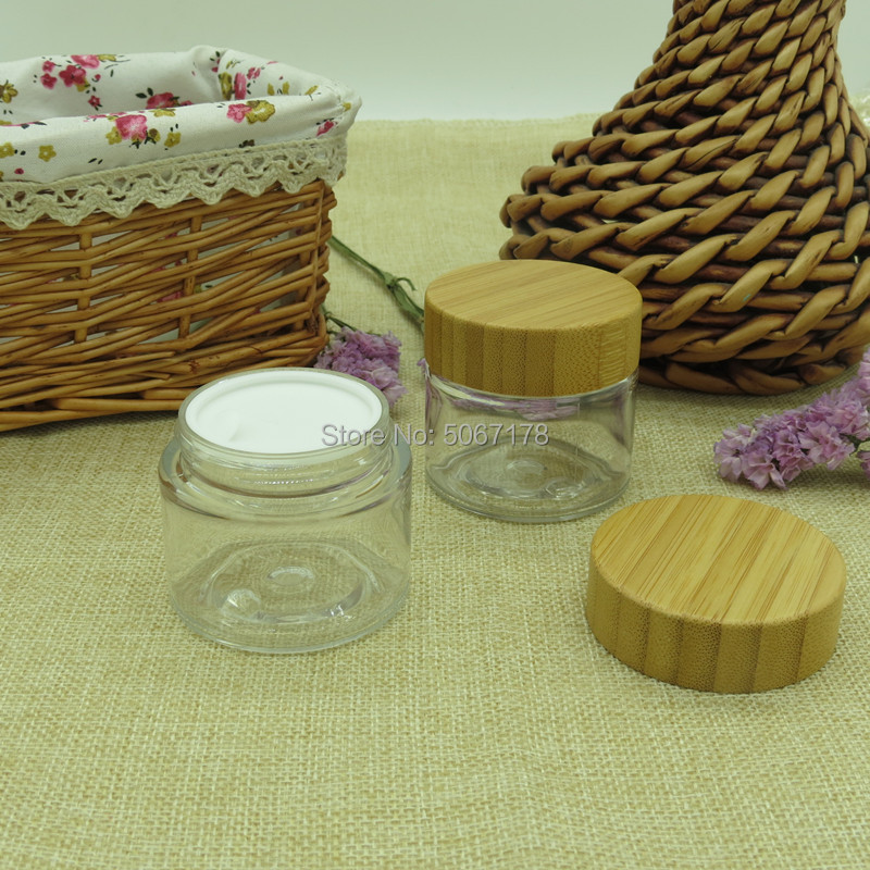 10pcs 50g Clear Plastic Refillable Bottles Empty Pot Bottles Makeup Jar Travel Face Cream Lotion Cosmetic Container