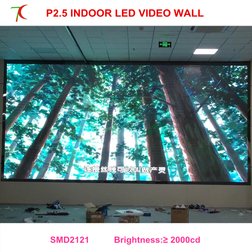 LED screen expert P2.5 indoor full color display widely use for led video wall ...