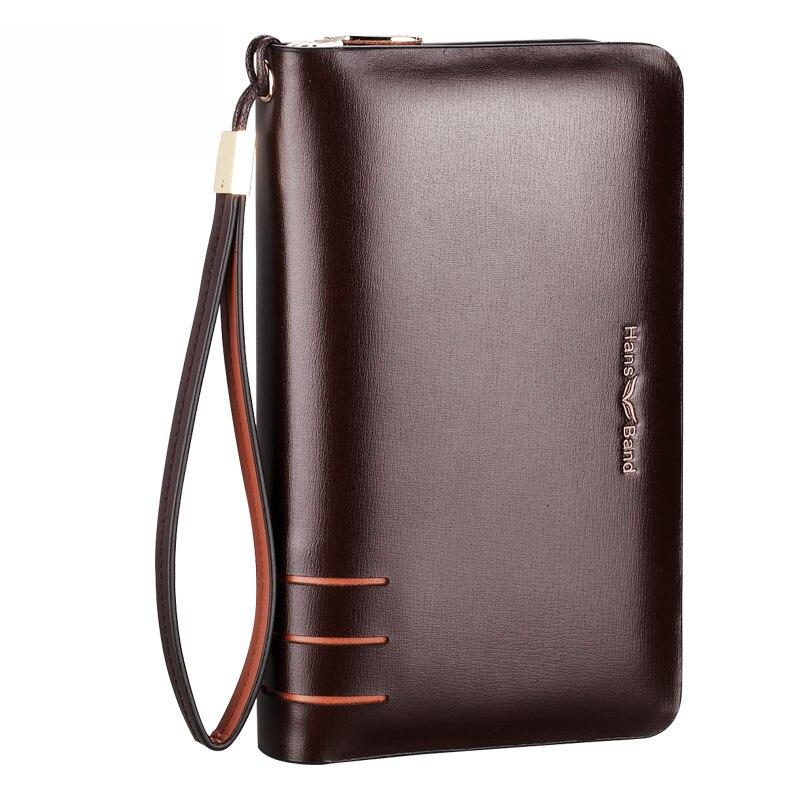 Uus brändi Split nahast meeste sidur kotid Business käekotid topelt tõmblukk suur maht Telefon rahakott käekotid sidur rahakott