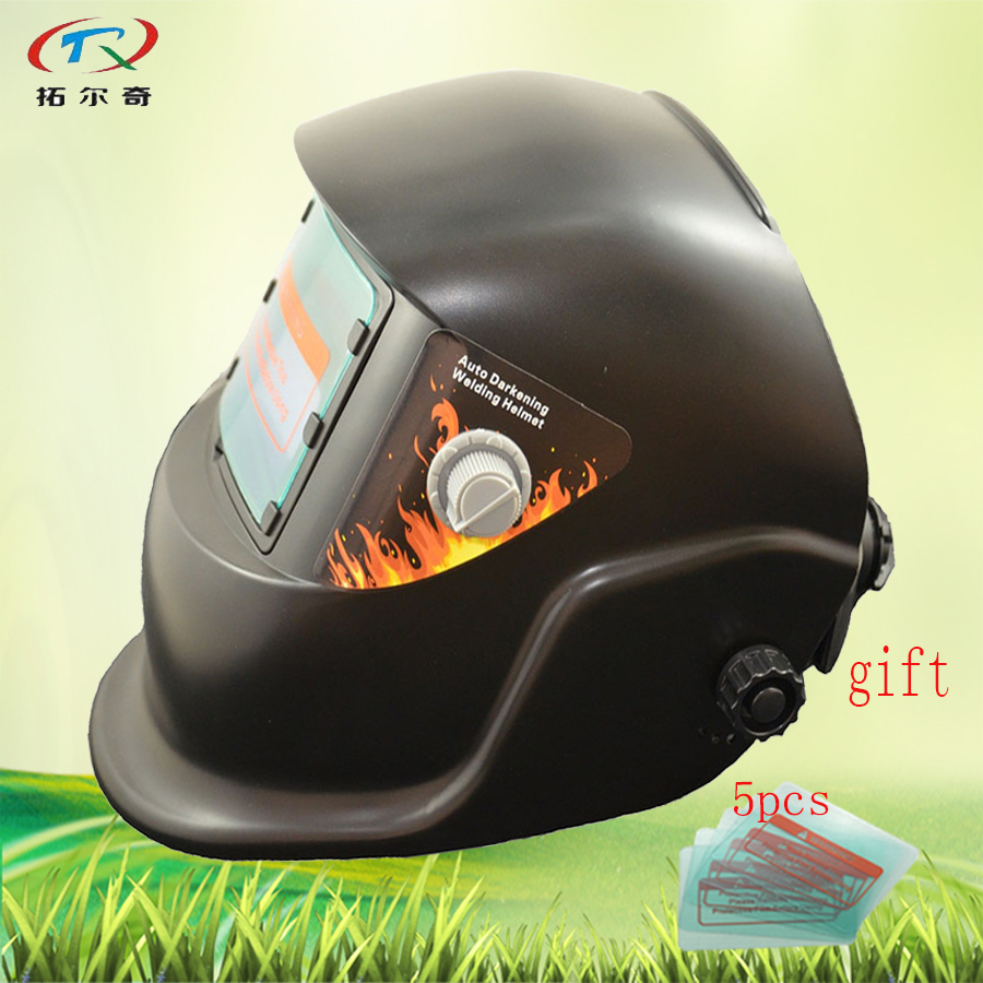 auto Darkening Welding Helmet replaced battery supply Solar Battery Welding Mask Black Color Full Face low price HS01-A(2233FF)W