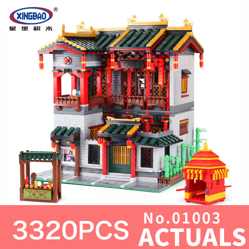 XingBao 01003 3320Pcs Creative MOC Series Chinese architecture Set Children Educational Building Blocks Bricks Toys Model Gifts loz mini diamond block world famous architecture financial center swfc shangha china city nanoblock model brick educational toys