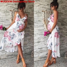 Платья для беременных Одежда для беременных Беременность беременных платье Повседневное цветочный Falbala беременных платье Удобный сарафан платье для беременных платье летнее длинное платье женская одежда лето