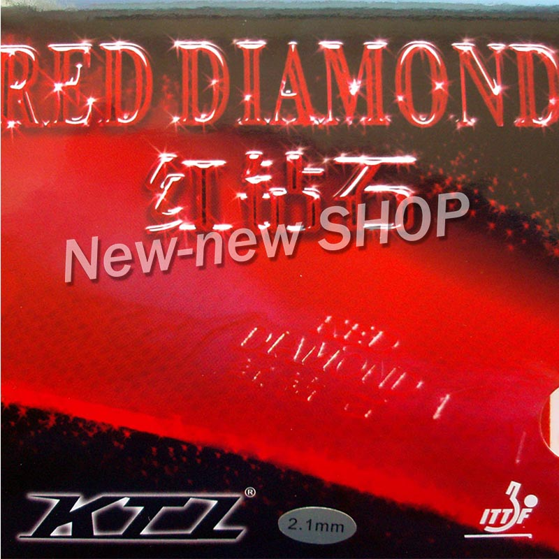 KTL RED DIAMOND Red Pips-In Table Tennis (PingPong) Rubber With Sponge