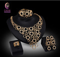 Bridal Jewelry Sets Nigerian Wedding African beads jewelry set crystal gold plated jewelry wedding accessories party