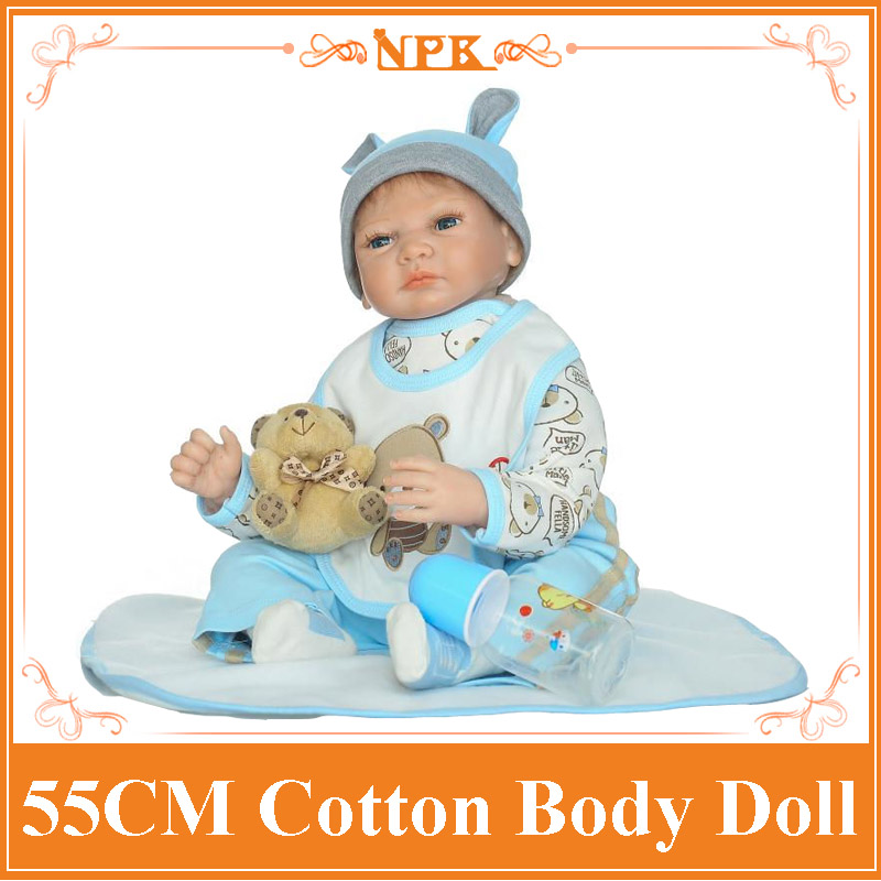 Blue/Brown Eyes 55cm Dolls Reborn With Soft Two- Piece Suit Good Price Doll Baby Alive As Children Acompany Reborn Baby Dolls стол bellini brown two