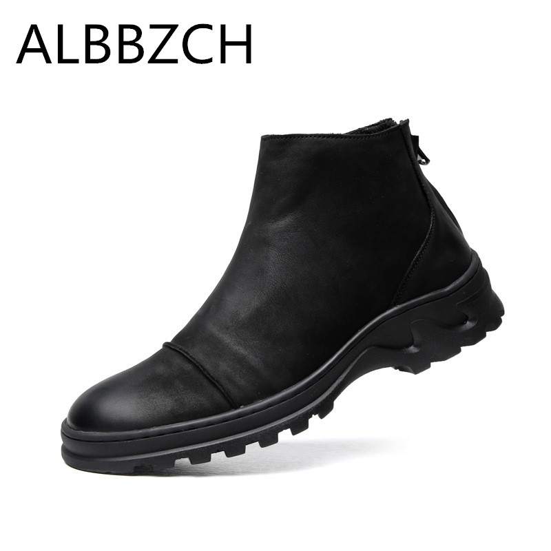 New Mens Chelsea Ankle Boots Quality Cow Leather Work Boots British Trend Business Casual Men Boots Botas Plus Size 38-44New Mens Chelsea Ankle Boots Quality Cow Leather Work Boots British Trend Business Casual Men Boots Botas Plus Size 38-44
