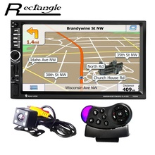 7020G Autoradio DVD MP5 Lecteur Vidéo + Arrière Caméra 7 Pouce Écran Tactile Bluetooth FM GPS Navigation Directeur roue Télécommande