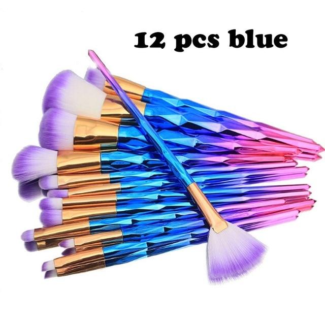 7/10pcs Unicorn Thread Makeup Brushes Professional Make Up Brushes Fiber Brush Set Makeup Tools Eyebrow Eyeliner Powder Brushes 4