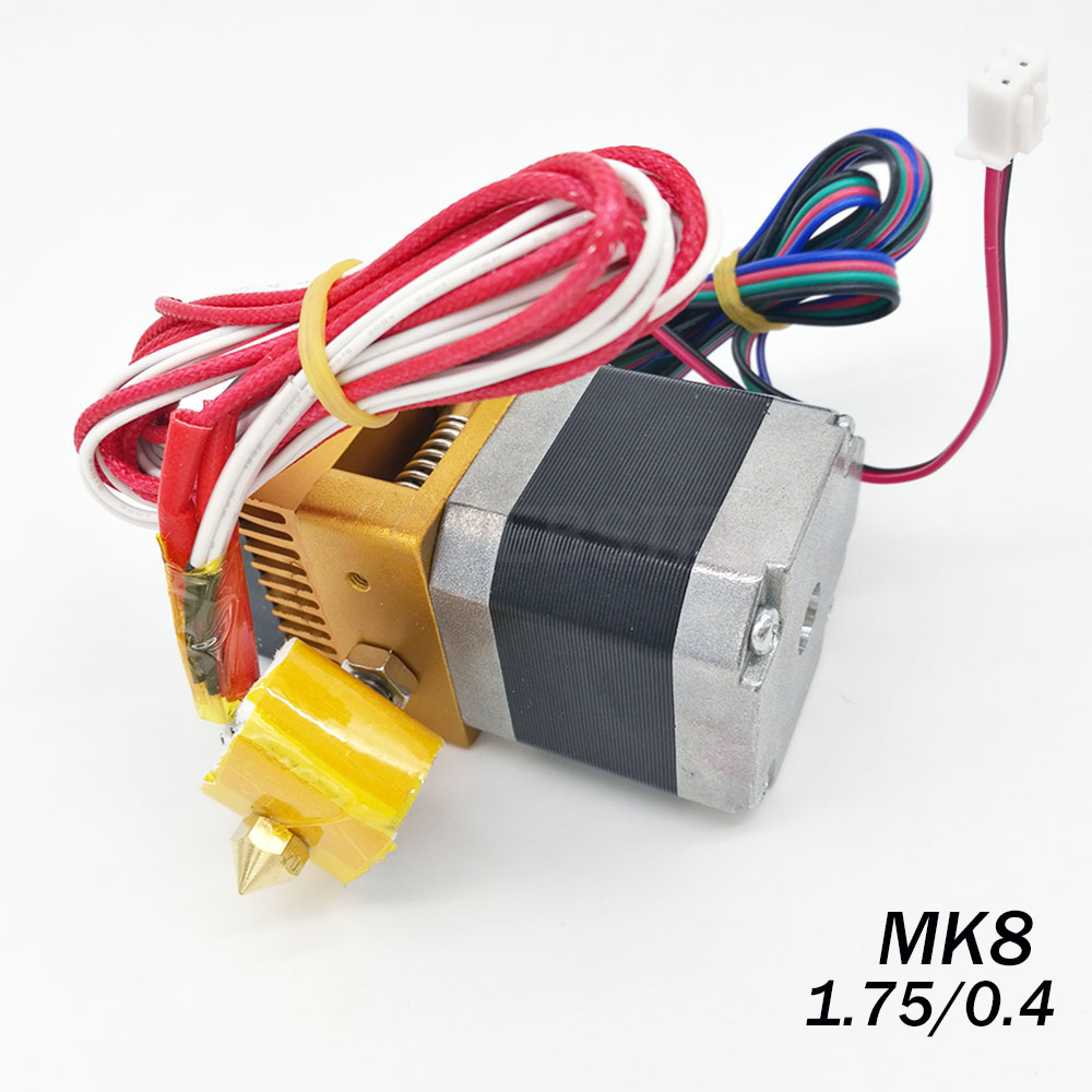 3D Printers Parts MK8 Extruder Head J-head Hotend 0.4mm Nozzle Kit 1.75mm Filament Extrusion MK8 Extruder Kit