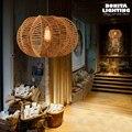EdisonRetro подвесные лампы  американский Сельский ретро подвесной светильник для ресторанов  креативная тыквенная пеньковая веревка  плетеный ...