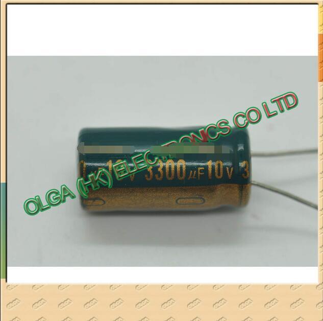 10 V3300uf 3300 Uf10v Plug-in Aluminum Electrolytic Capacitor Size: 13 * 20