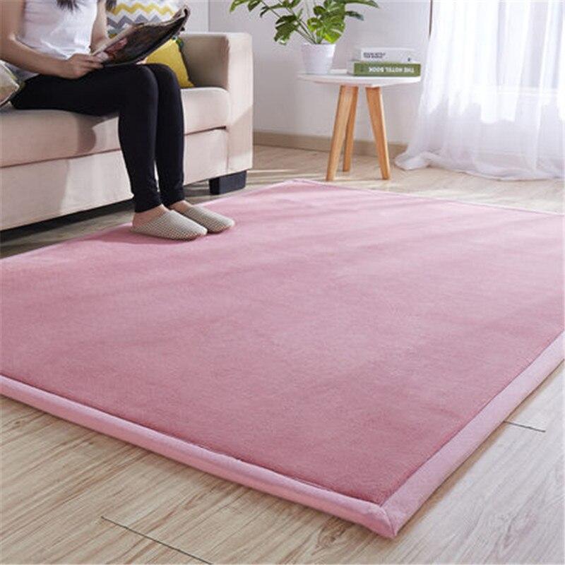 Grueso de coral polar alfombra tatami dormitorio Sala Mirador alfombra bebé romper-resistente gatear alfombra del dormitorio mat