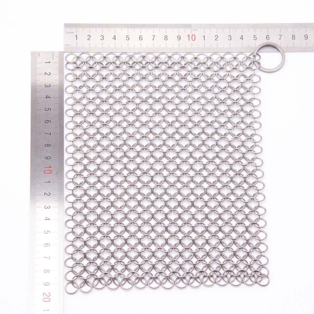 My House 8*6 Finger Iron Cleaner Stainless Steel Chainmail Scrubberdrop shipping 8Hot8536