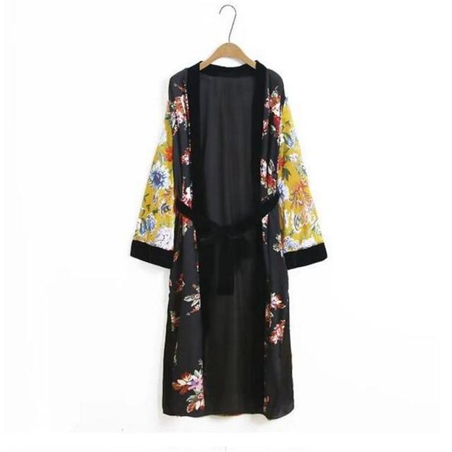 winter kimono with sashes women trench coat thicken long robe open stitch wrap Bohemian kimono cardigan trench coats tippet