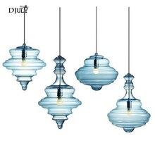 נורדי בצורת דלעת מוכתם זכוכית תליון אורות סלון חדר אוכל חדר מטבח led luminaire לופט דקור גופי תאורה
