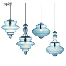 Nordic Geformt kürbis glasmalerei anhänger lichter für wohnzimmer esszimmer küche led leuchte loft dekor leuchten