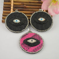 Newest 6PCS Spray Painted Slice Pendant Crystal Rhinestone Paved Druzy Charm Jewelry Pendant Beads For Making