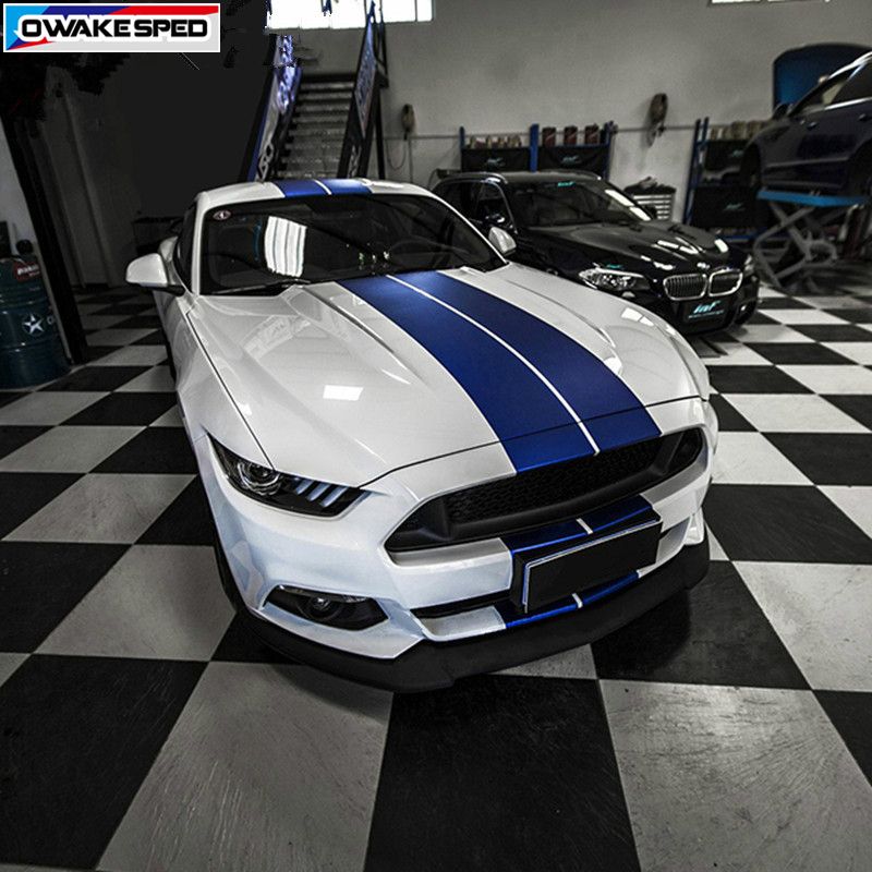 Sport Stripes Car Hood Roof Tail Door Side Whole Sticker Auto Customized Body Decals Exterior Accessories For Ford Mustang