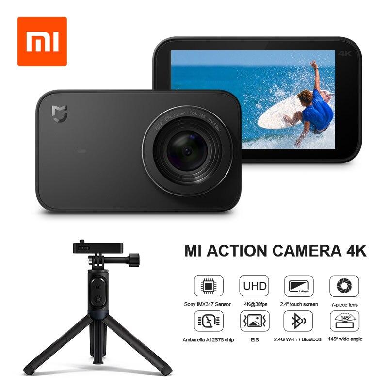 Version internationale Xiao mi mi mi jia caméra d'action 4 K/30FPS Ambarella A12S75 WiFi caméra vidéo de Sport étanche sous-marine