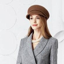 Señora boina de lana de invierno de las mujeres sombrero Formal elegante  sombrero de Iglesia boda sombrero Fedora sombrero lana . f978055388f