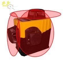 Мули 12 линий лазерный уровень 3D Инфракрасный прилипание стены самонивелирующийся 360 горизонтальный и вертикальный крест супер мощный красный лазерный луч