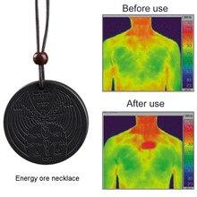 Подробные сведения о power ful Scalar Bio ожерелье с положительной энергетикой кулон Quantum pendant магнитное здоровье питания цепи ожерелье профессиональное колье