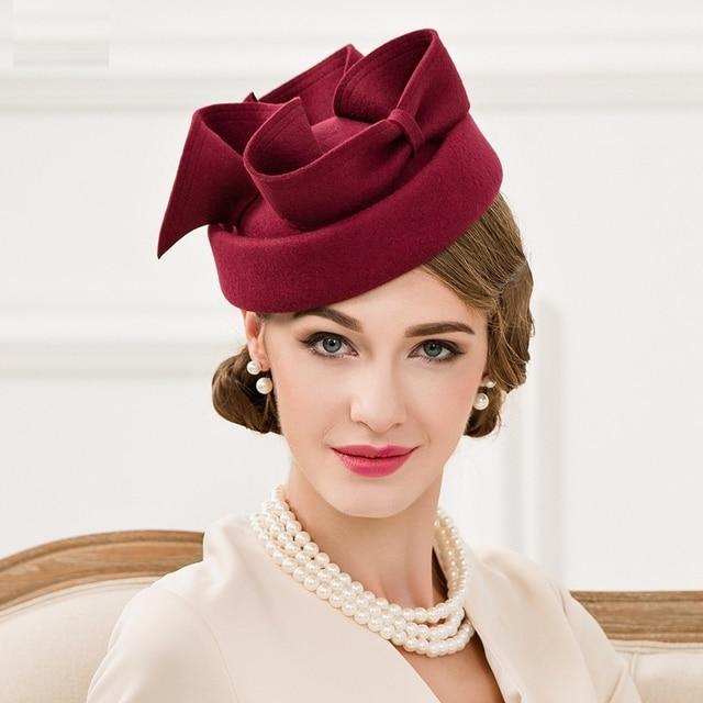 eba2f431e0a17 Women Fascinators Pillbox Wool Hat Gray Winter Vintage Felt Festival Party  Wedding Ladies Women Fedoras with