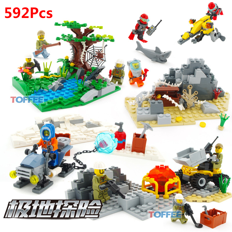 592Pcs Undersea Series Exploration Compatible Legoed City Figures Enlighten BricksToys For Kids Boy's Birthday Gift