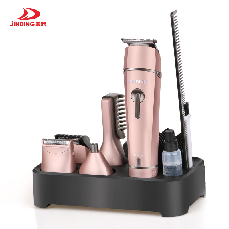 Multifunction 5 in 1 Electric Hair Clipper Body Hair Trimmer Lady Epilator Rechargeable Head Shaver Nose Beard Shave Trimmer original kemei women electric epilator rechargeable washable lady shaver hair body hair trimmer shave wool removal device