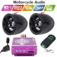 Motorcycle Waterproof Anti-theft Sound MP3 Music Player with Display Moto Audio System Stereo Speakers FM Radio