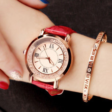 цена на luxury ladies gold watch wrist watches Rhinestone Quartz diamond watch for women 2019 watches leather band