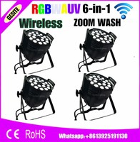 4pcs Lot Wireless Control High Quality 18pcs 18W 6 In 1 Led Zoom Par Light For