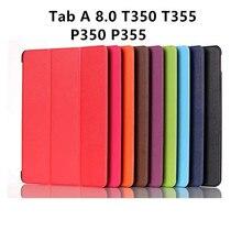 KST Una Ficha de 8.0 Imán de La Cubierta Del Tirón Para Samsung Galaxy Tab Un 8.0 T350 T355 P350 P355 Tablet Caso Elegante de La Cubierta Protectora shell de la piel