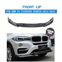 BMW X6 표준 범퍼 용 탄소 섬유 앞 립 스포일러 2015 2016 2017 앞 범퍼 스플리터 립 키트