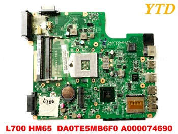 Original for toshiba L700  laptop motherboard L700 HM65  DA0TE5MB6F0 A000074690tested good free shipping