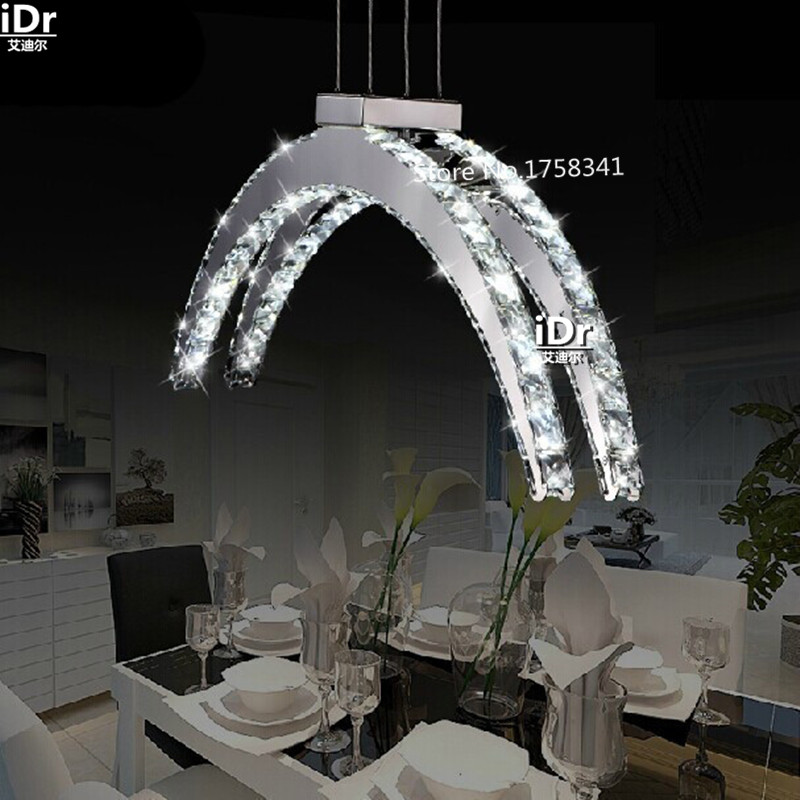 Europe personality design brief LED crystal chandelier modern fashion crystal  bar lighting Hotel Lighting Upscale atmosphere