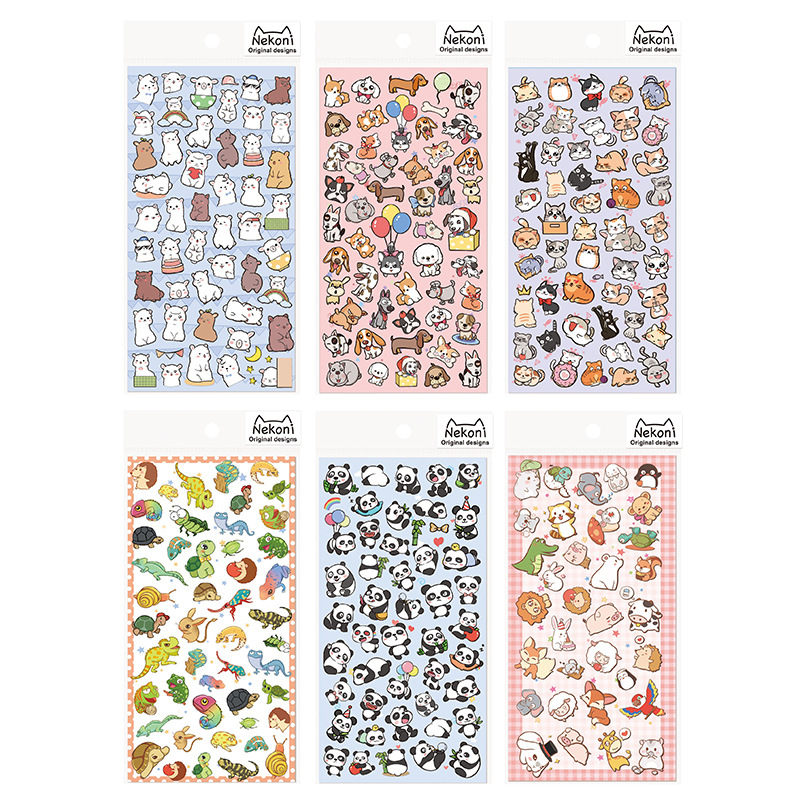 Animals Home Stickers Diary Sticker Scrapbook Decoration PVC Stationery DIY Stickers School Office Supply artistic lady figure wall stickers home decoration