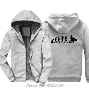 Image 2 - Erkekler kalın kapüşonlu Sweatshirt evrim dört hoodie dörtlü Off Road bisiklet sıkıntılı hoodies Hip Hop Hoody ceket Tops