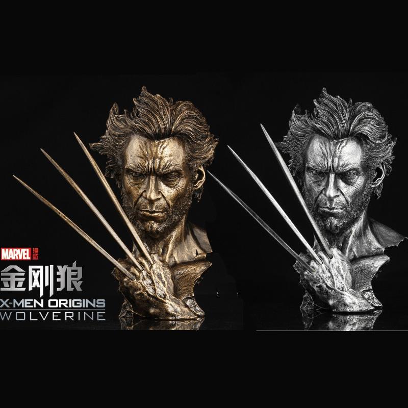 1230CM Super Hero Wolverine Bust Mode Hugh Jackman Resin Action Figure Collectible Toy Dolls 2015 new free shipping marvel super hero x men wolverine pvc action figure collectible toy 1231cm with box