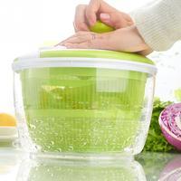 Salad Dryer Vegetable Fruit Drain Basket Dehydrator Shake Water Basket Multifunction Kitchen Mix Salad Spinner Tools #715