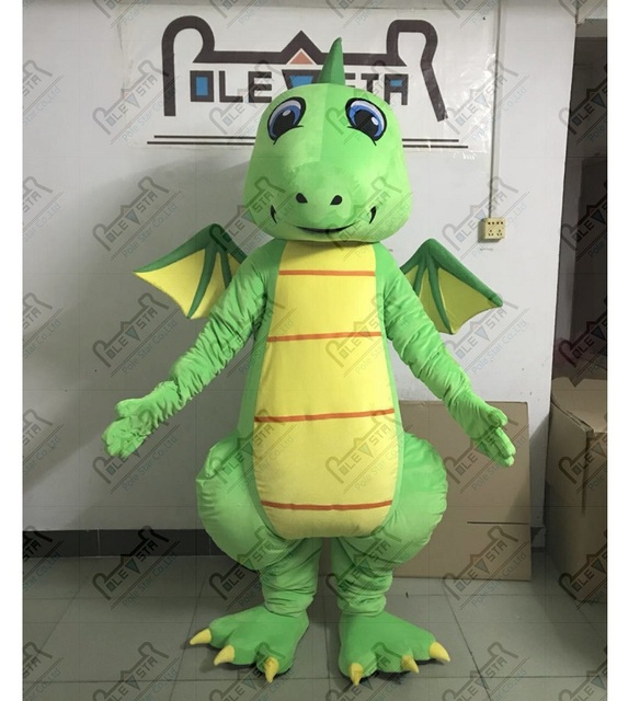 EVA foam head green dragon mascot costume yellow wing and belly dinosaur mascot costumes hand make & EVA foam head green dragon mascot costume yellow wing and belly ...